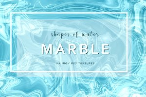 """25 Marble Textures """"Shapes of Water"""""""