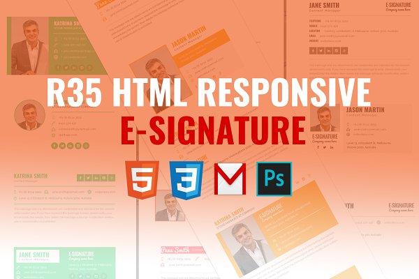 R35 HTML Responsive E-Signature
