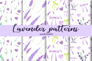 Watercolor Lavender patterns