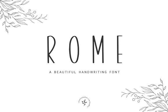 Rome Font Bonus