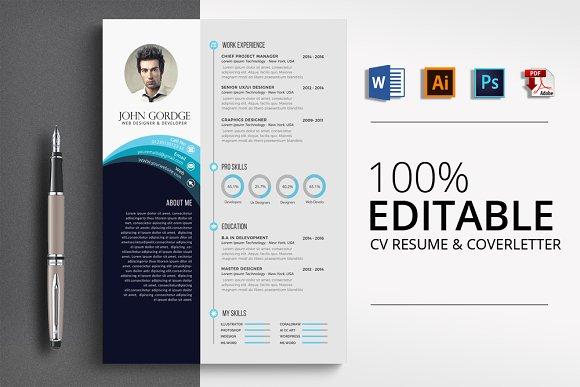 Stylish Word Resume CV