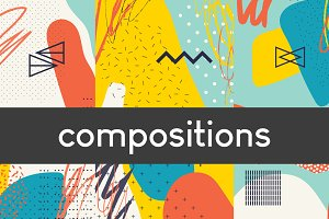 Abstract compositions and cards set