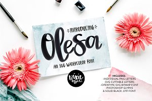 Olesa Watercolor OpenType SVG Font