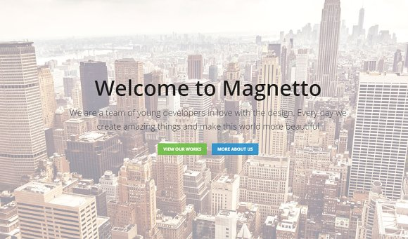 Magnetto Onepage Parallax WordPres