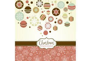 Christmas Clip Art, Retro ornaments