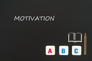 abc letters with text motivation