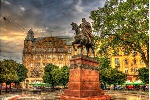 Statue of Daniel of Galicia in Lviv, Ukraine