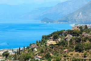 Calabrian Tyrrhenian sea coastline