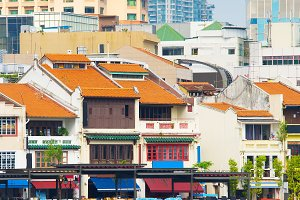 Boat Quay  historical part Singapore