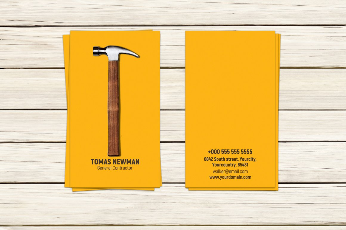 Contractor business card template business card templates contractor business card template business card templates creative market colourmoves
