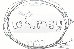 Whimsy - Whimsical Handwritten Font