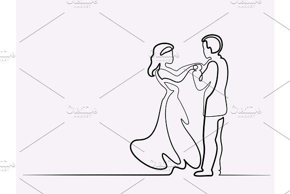 Loving Couple On White Background