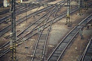 railway vintage background