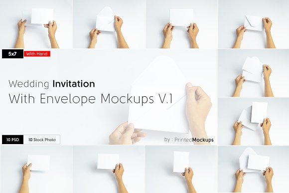 5x7 Invitation Envelope Mockups V.1