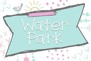 Water Park - A Fun Handwritten Font
