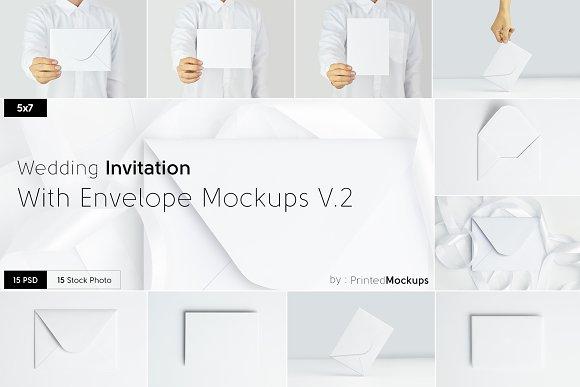 5x7 Invitation Envelope Mockups V.2
