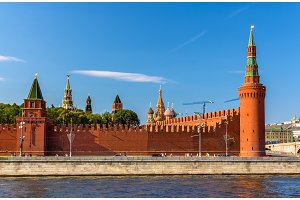 Beklemishevskaya and Petrovskaya towers of Moscow Kremlin