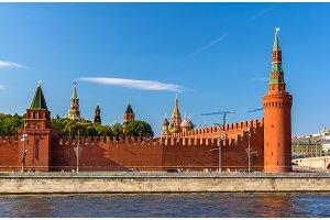 Beklemishevskaya and Petrovskaya towers of Moscow Kremlin