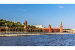 View of Moscow Kremlin over the river - Russia