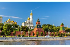 View of Moscow Kremlin over the river