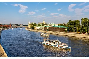 Excursion boats on Moscow river - Russia