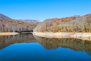 Montseny in Autumn lake