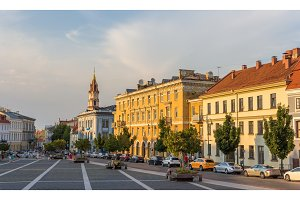 View of Town Hall square in Vilnius, Lithuania