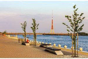 Embankment in Riga, Latvia