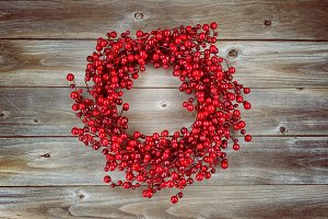 Vintage Red Berry Holiday Wreath