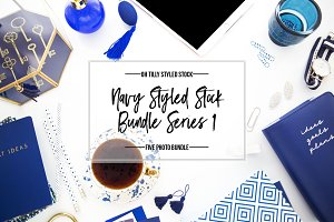 Navy Blue Styled Photo Bundle S1