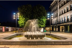 Fountain in Kaunas at night - Lithuania