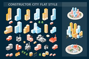 Vector Bundle City of isometric