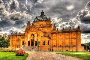 View of Art Pavilion in Zagreb, Croatia