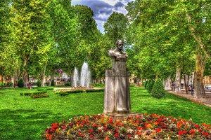 The Zrinjevac park at the Nikola Subic Zrinski square in Zagreb