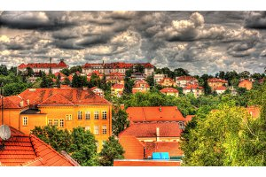 Panorama of Zagreb city in Croatia