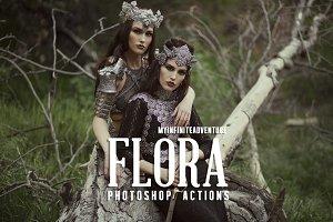 17 Flora Photoshop Actions
