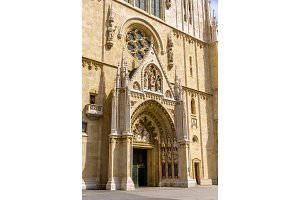Entrance of Zagreb Cathedral - Croatia