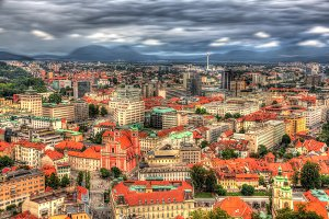 View of Ljubljana from the castle - Slovenia
