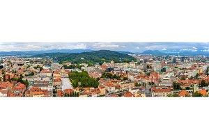 Panoramic view of Ljubljana - Slovenia