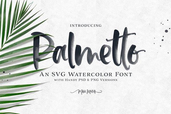 Palmetto SVG Font