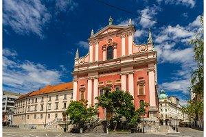 Cerkev Marijinega oznanjenja (Franciscan Church) in Ljubljana, S