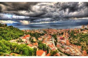 View of Adriatic Sea in Rijeka, Croatia