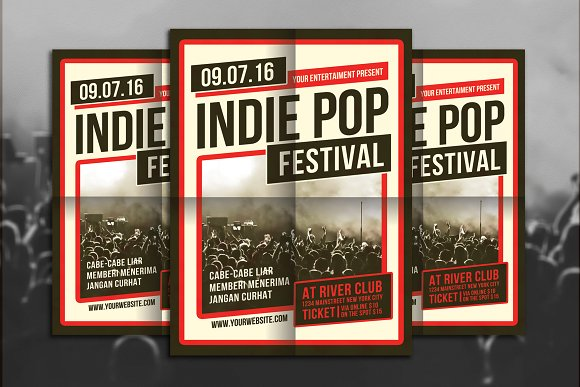 Indie Pop Festival Flyer Template
