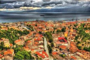 Aerial view of Rijeka, Croatia