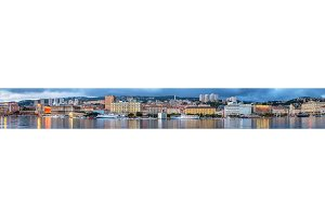 Panorama of Rijeka city in Croatia