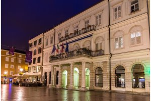 View of Rijeka town hall - Croatia