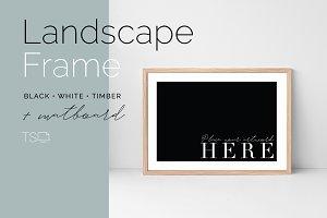 Landscape Frame Mockup with Matboard