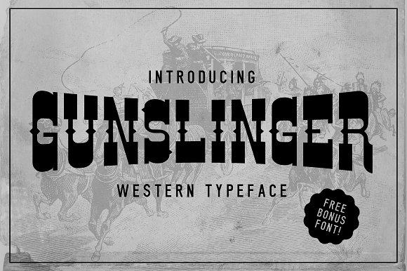 NEW Gunslinger Typeface