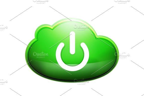 Start Power Cloud Button Ui Icon Design On Off Symbol