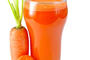 Juice carrot isolated